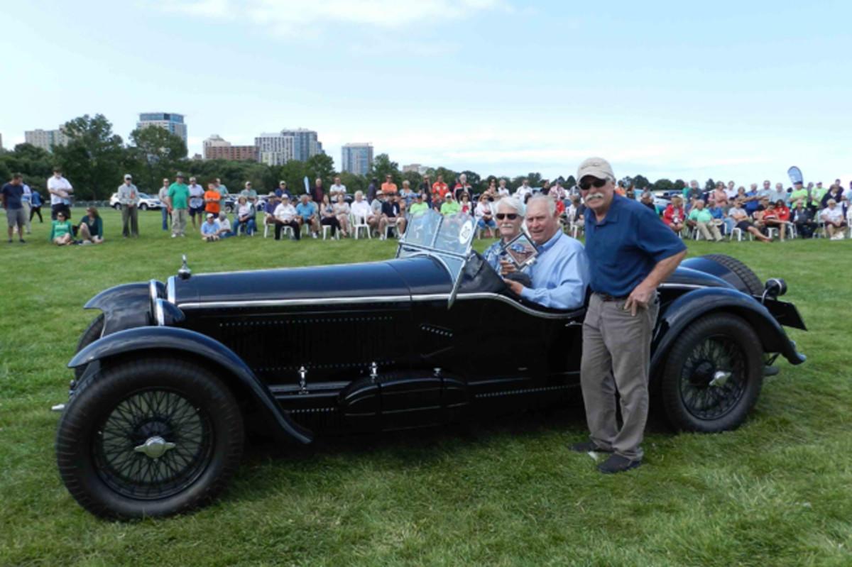 "2017 Milwaukee Concours d'Elegance ""Best of Show: Sport"" – 1932 Alfa Romeo. Award presented by Wayne Carini."