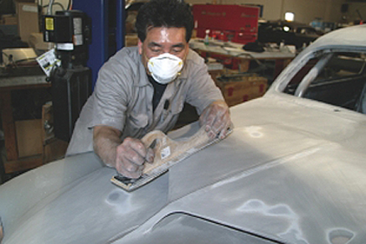 There is no tool that replaces the human feel for shaping a compound curve on a car.