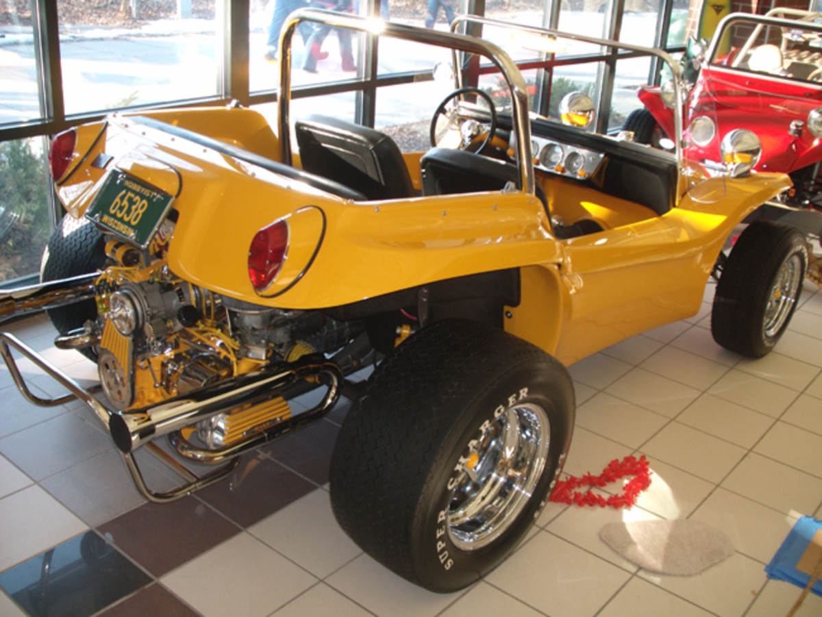 The Milwaukee World of Wheels is a good place to see dune buggies.