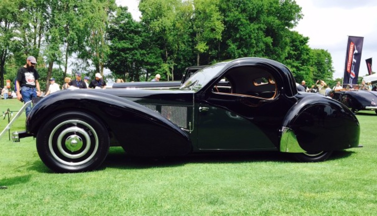 Mr. Patterson's incredibly beautiful 1937 Bugatti Type 57SC Atalanta, which won the Concours d'Elegance of America's Best of Show (Foreign) in 2015.