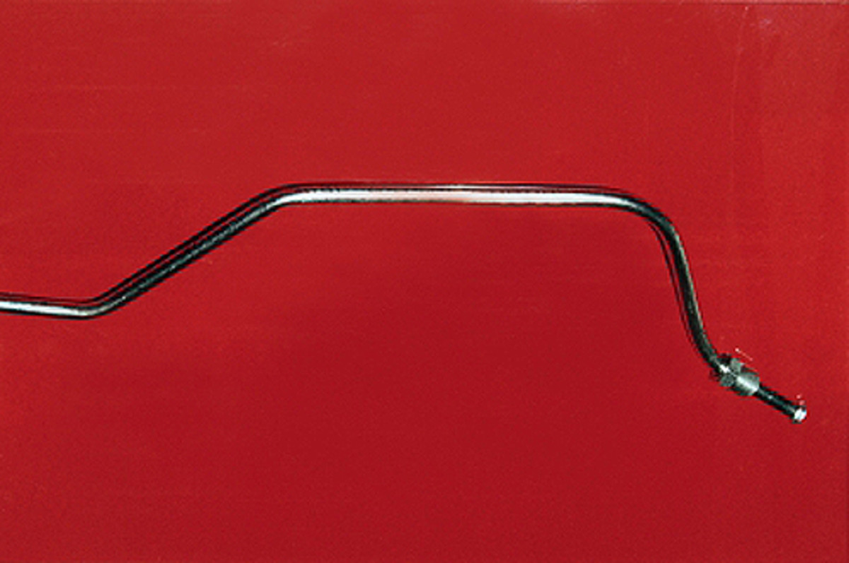Smaller sections of the new stainless-steel brake lines will have the correct factory bends. This is what you need for a perfect fit on your collector car. Shipping bends are not used on the shorter lines.