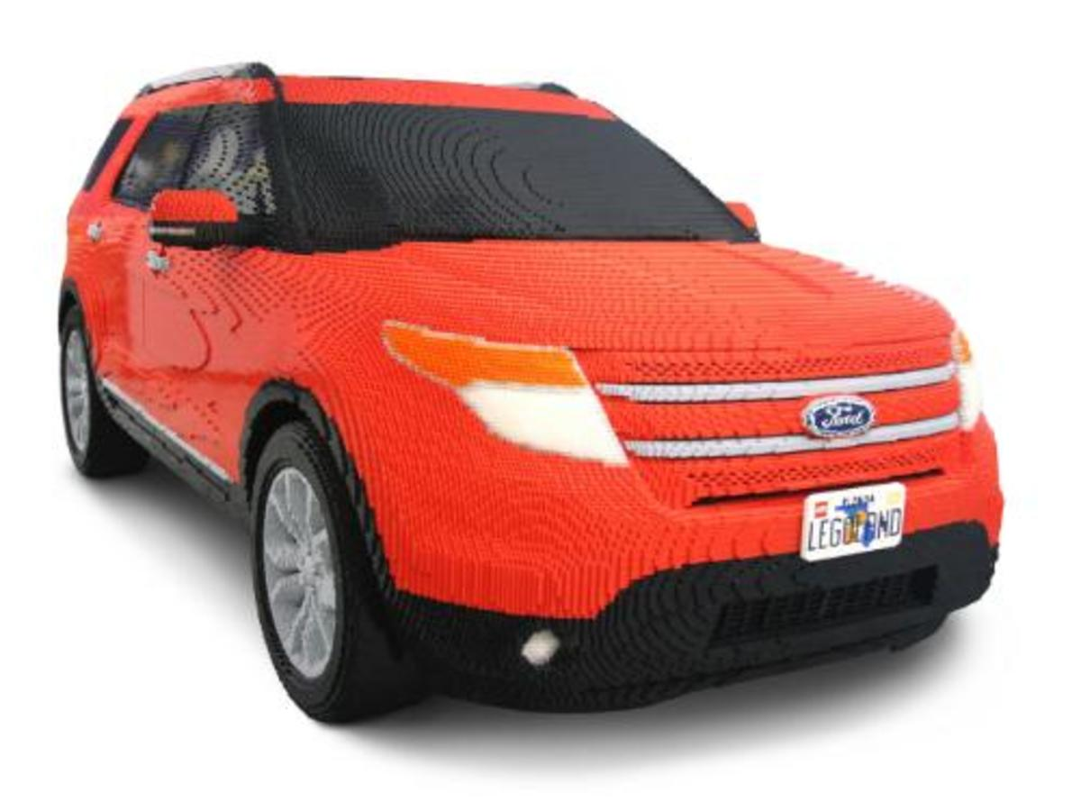 My Lego cars were never this realistic, but I never had the 380,000 Lego blocks to build something as realistic as this Ford Explorer.