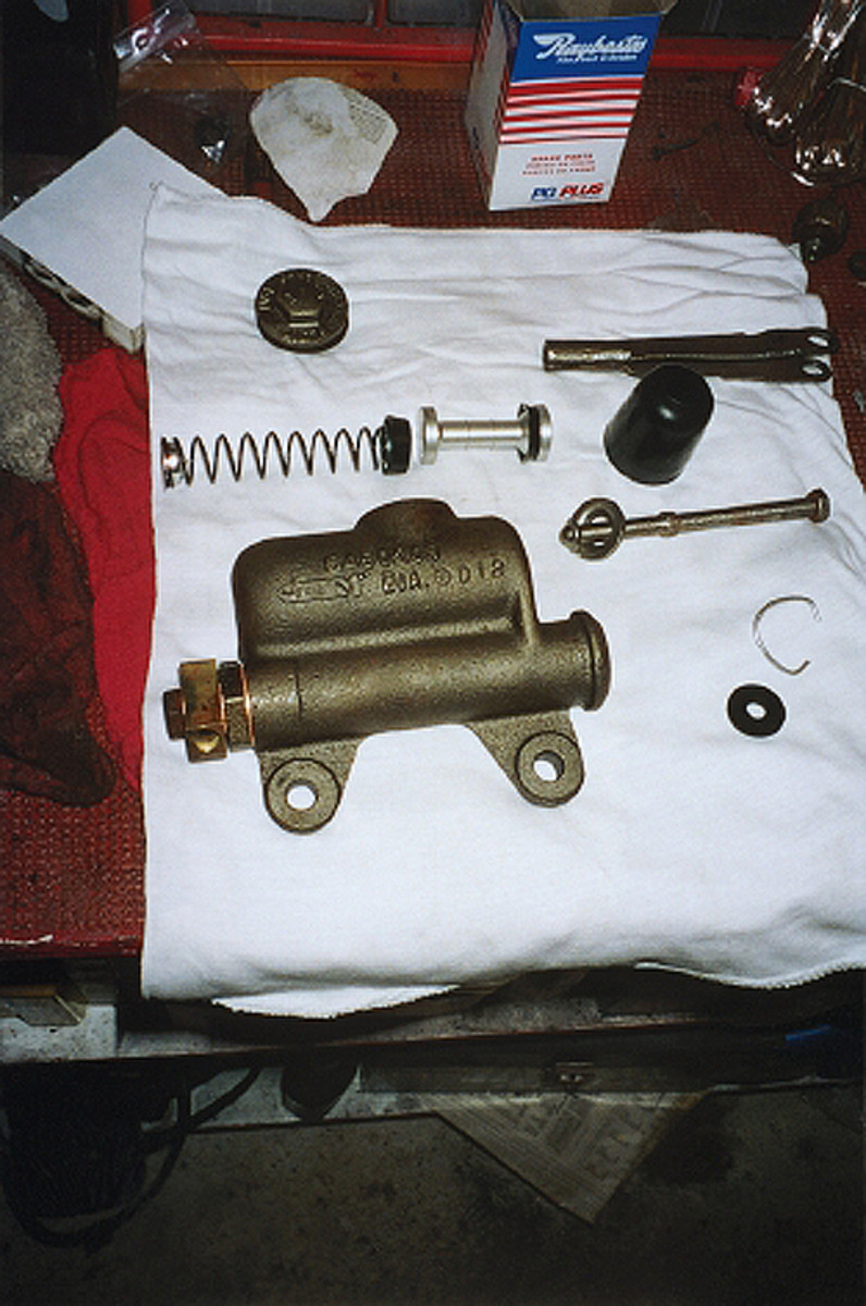 What used to be a rusty old master cylinder came back from Brake & Equipment Warehouse with a shiny-stainless steel bore and cleaned-up housing. B&E will rebuild for a higher price or supply rebuilding kits for do-it-yourselfers.