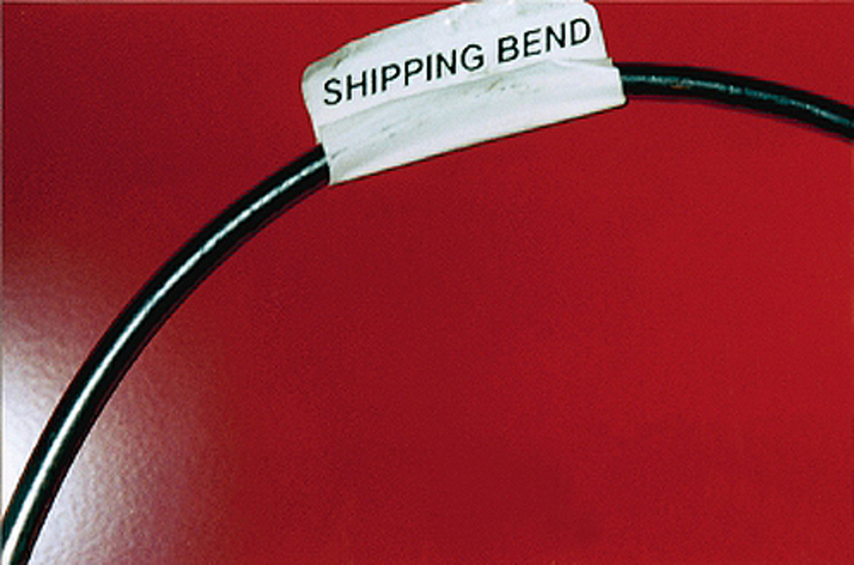 "Some new stainless-steel brake lines may come with ""shipping bends"" to allow them to be shipped in smaller boxes so they don't have to go by truck. This saves money, as truck shipping charges can be high."