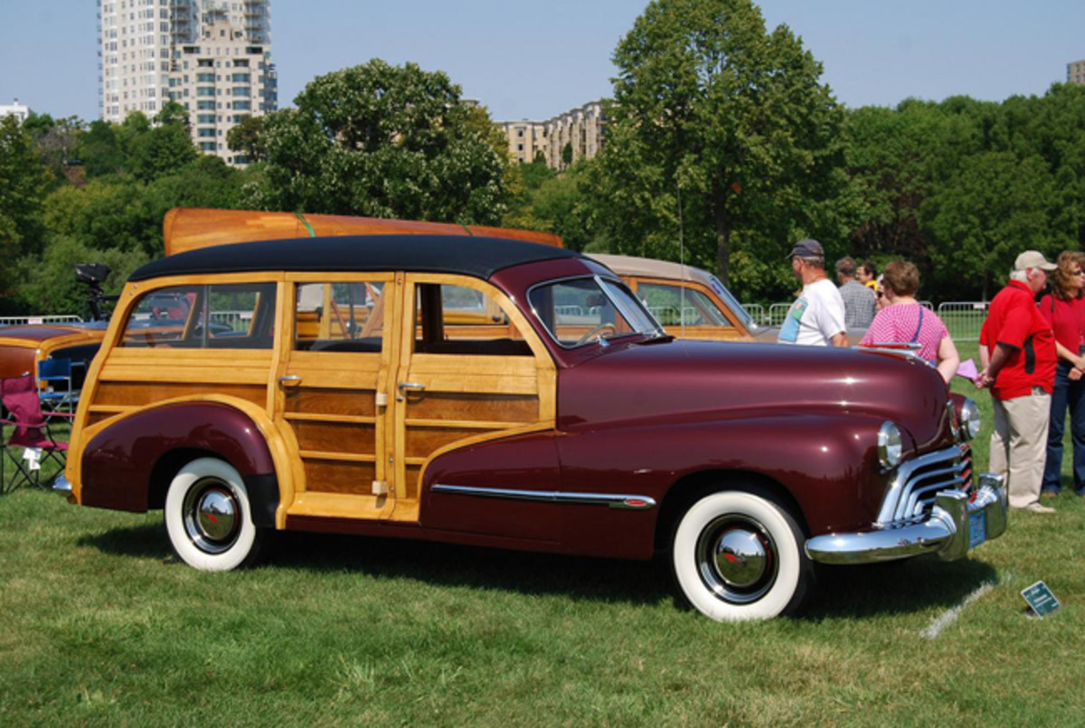 This 1946 Oldsmobile woodie was in the 2015 Milwaukee Masterpiece