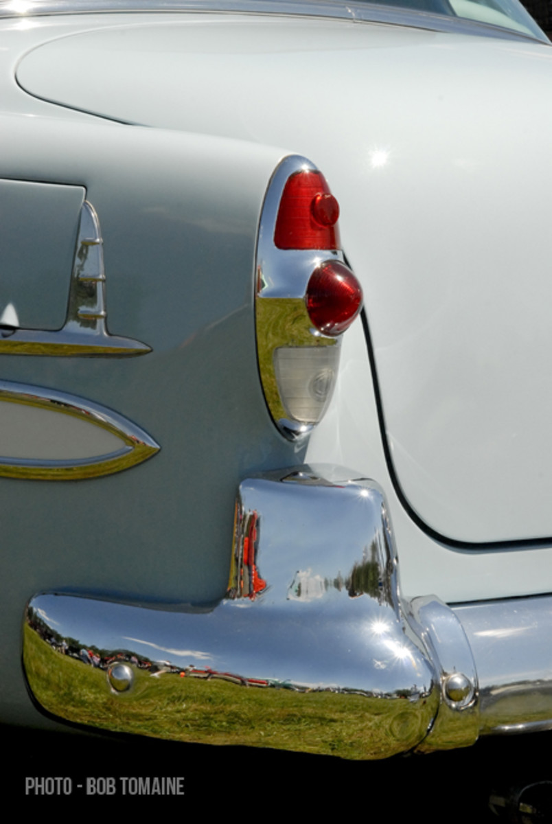 The tailfins that would become a staggeringly iconic Chevrolet signature in a few years got their start in 1953.