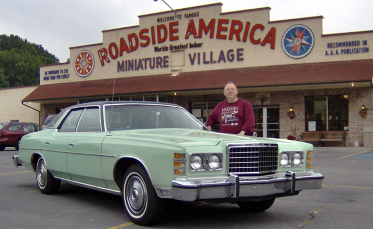 Roadside America was the first place author Gregg D. Merksamer wanted to photograph his 1978 Ford LTD after purchasing it with 22,000 original miles at Fall Hershey 2006.