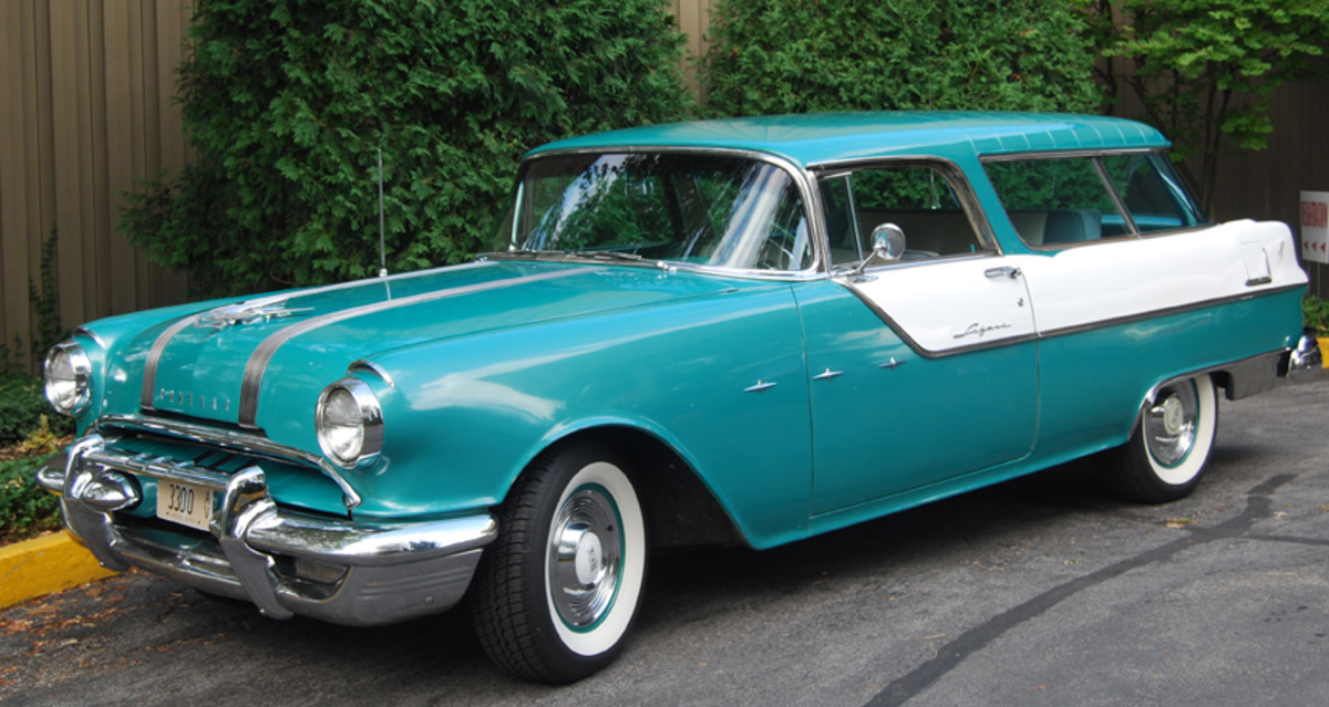 Each car, including this '55 Custom Safari station wagon, was registered and photographed by volunteers at the POCI Convention July 17-23 in St. Charles, Ill.