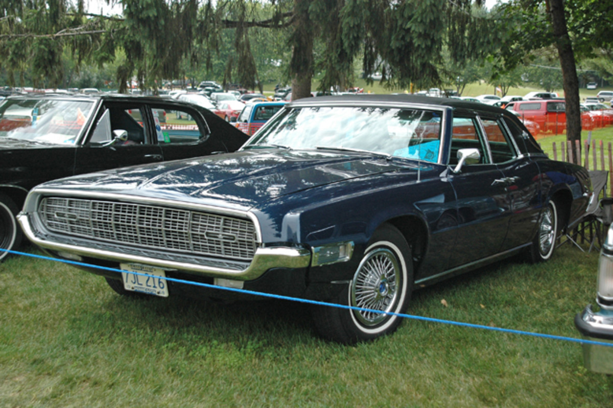 Yes, there were four-door Thunderbirds, at least for a while (1967-1971). Steve Mitchell brought his one-of-21,925 1968 edition of the four-door Thunderbird Landau to Iola from Chaska, Minn.