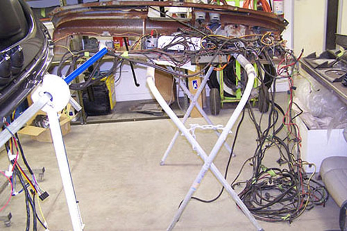 Even old wire that will not be reused should be laid out, labeled and kept untilthe new harness is installed.