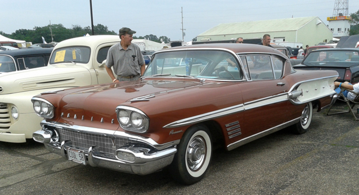 Built for the market north of the border, this Canadian 1958 Pontiac Parisienne was built on the Chevrolet chassis and as such, has a four-venturi 348-cid V-8. Its further optioned with an automatic transmission, power steering and power brakes.
