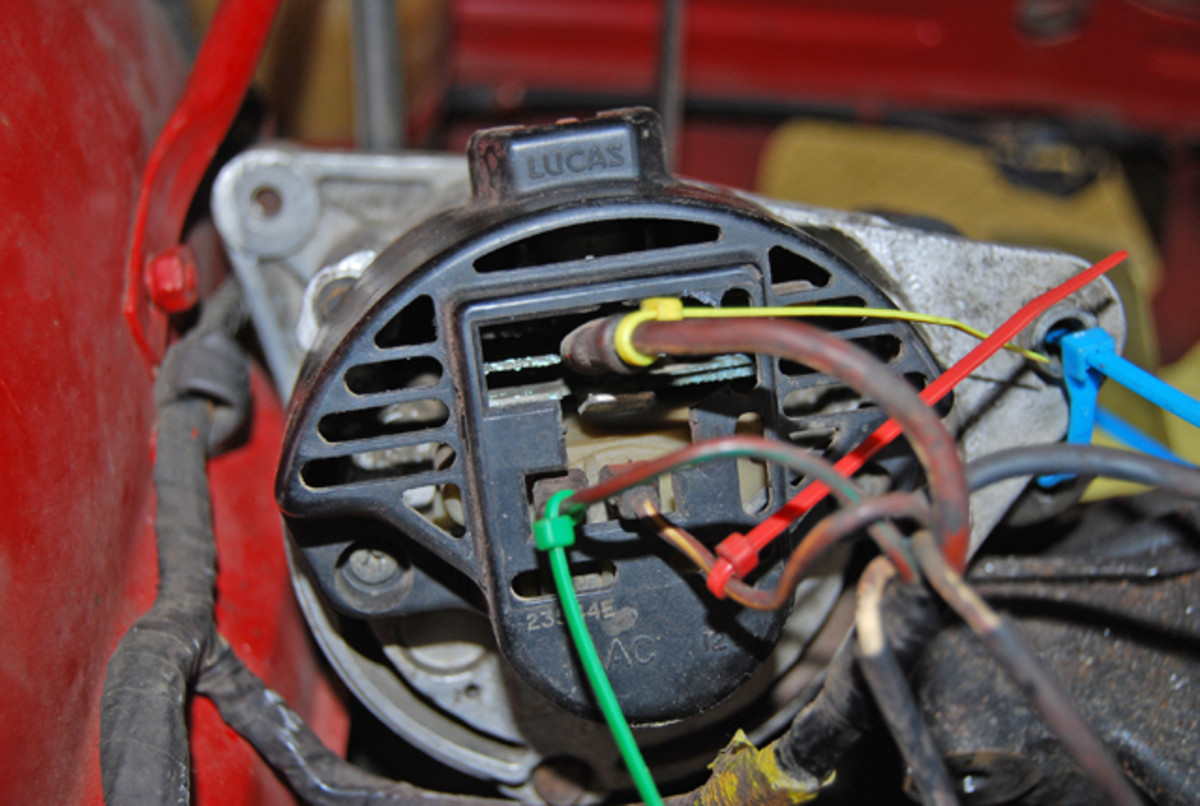 Electrical ties allow color-coded wiring connections. Old wires were color coded, but colors fade or get covered by grease.
