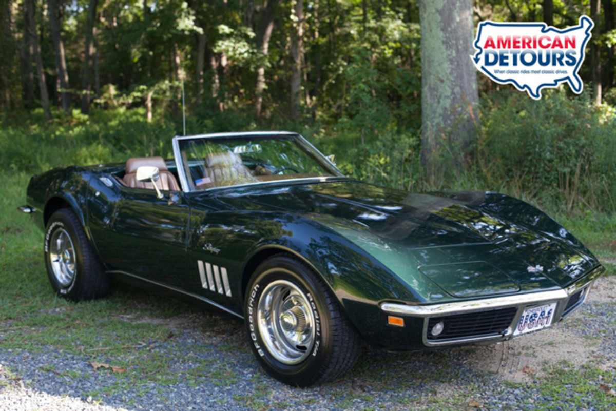 This 1969 Corvette C3 is the automotive star of American Detours : Superstorm Sandy. The 'Vette was severely damaged by Hurricane Sandy and is now back to its pre-storm glory.