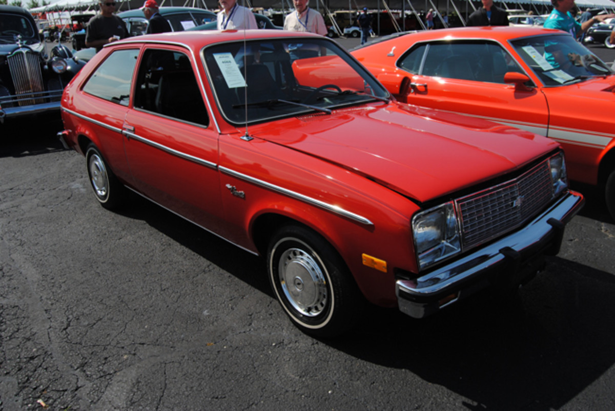 Surprising interest from several collectors drove the price of this 1980 Chevrolet Chevette to a $9,000 winning bid during Auctions America's Fall Auburn sale.