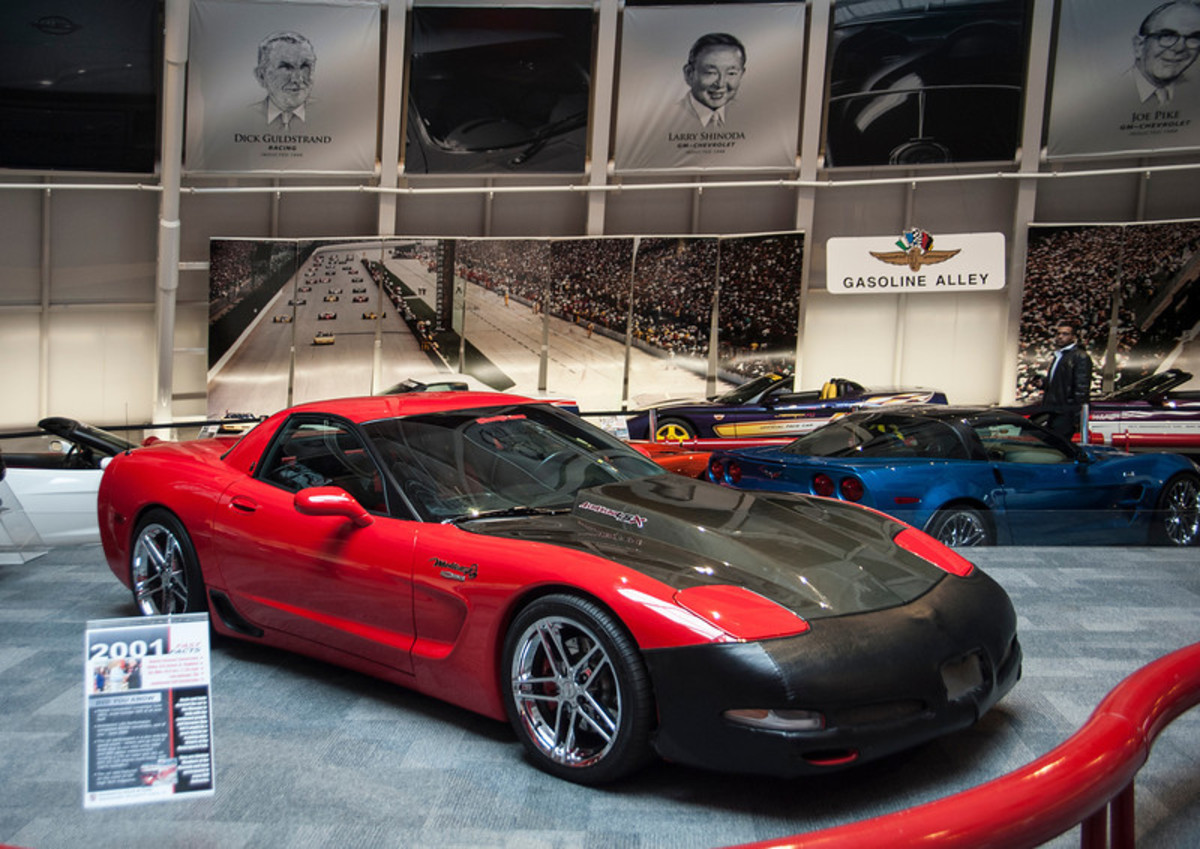 """""""Before"""" photo of Mallett Hammer when it was on display. (All photos courtesy National Corvette Museum)"""