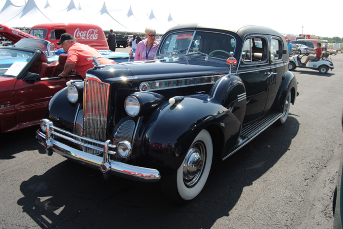 """This unrestored, well-preserved """"Full-Classic"""" 1940 Packard 180 Formal Sedan was a sweet buy for $20,7500 at Auctions America's Fall Auburn sale."""