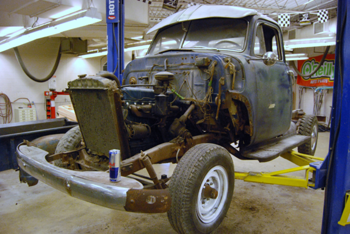 The club is also working on this Chevy pickup.