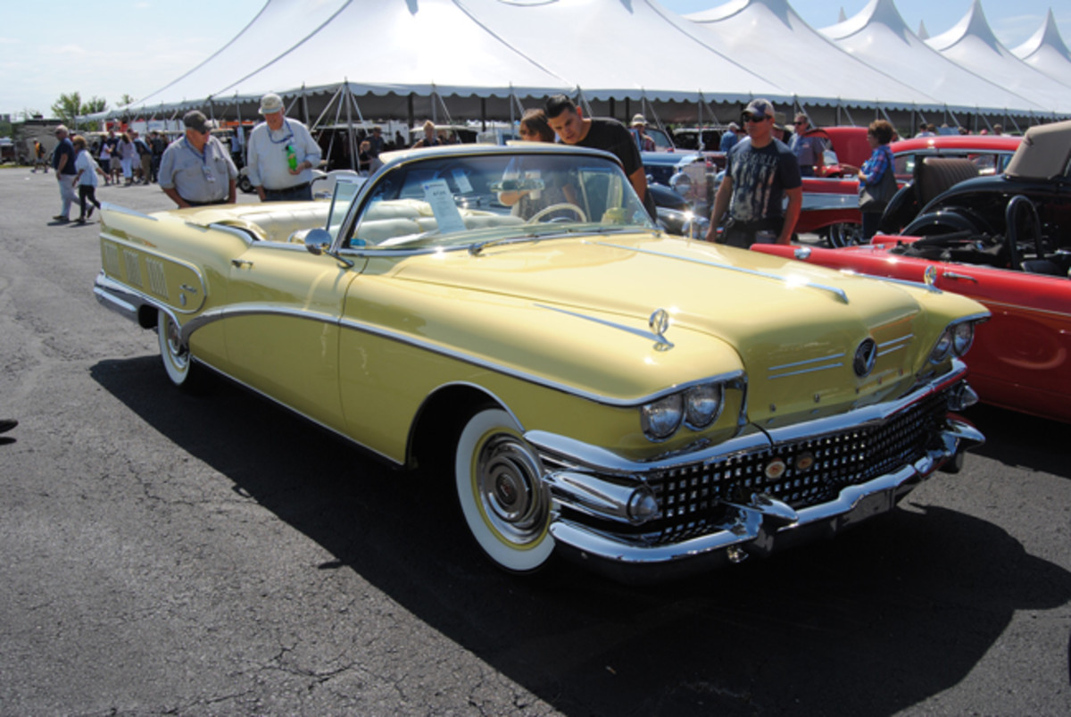 This spectacular 1958 Buick Limited convertible hit a home run at Auctions America's Fall Auburn sale with a selling price of $217,500.