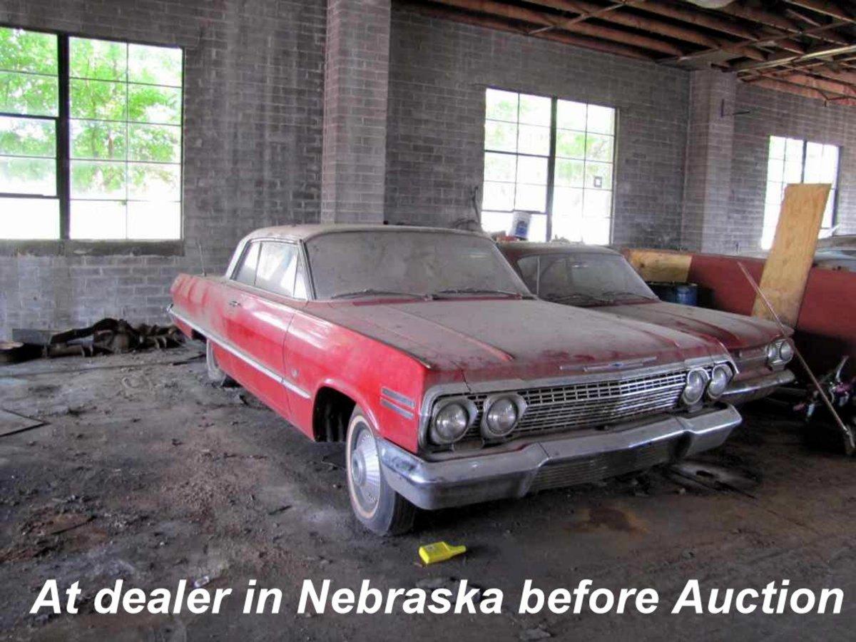 1963 Impala Sport Coupe inside Lambrecht Chevrolet in Pierce, Nebraska, in 2013.