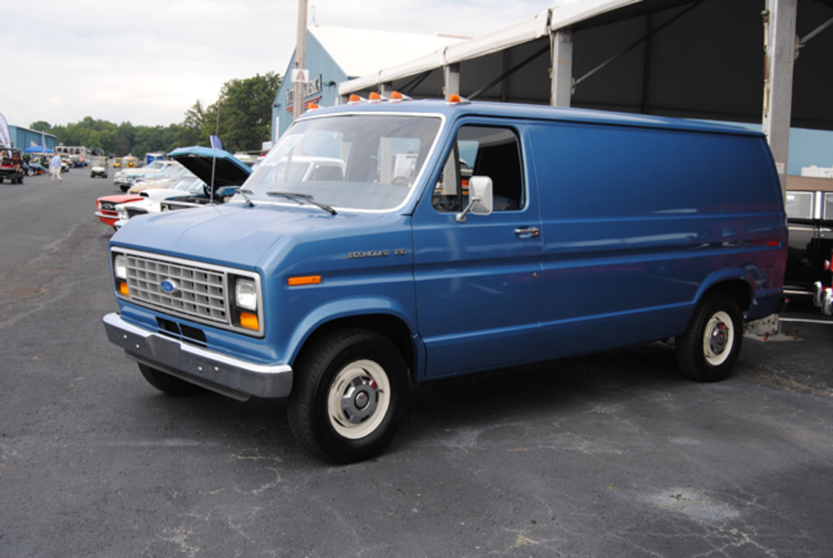 Well cared for this 1985 Ford Econoline 150 cargo van offered at Auctions America's Fall Auburn sale found several bidders with the hammer price of $9,000 getting it sold.