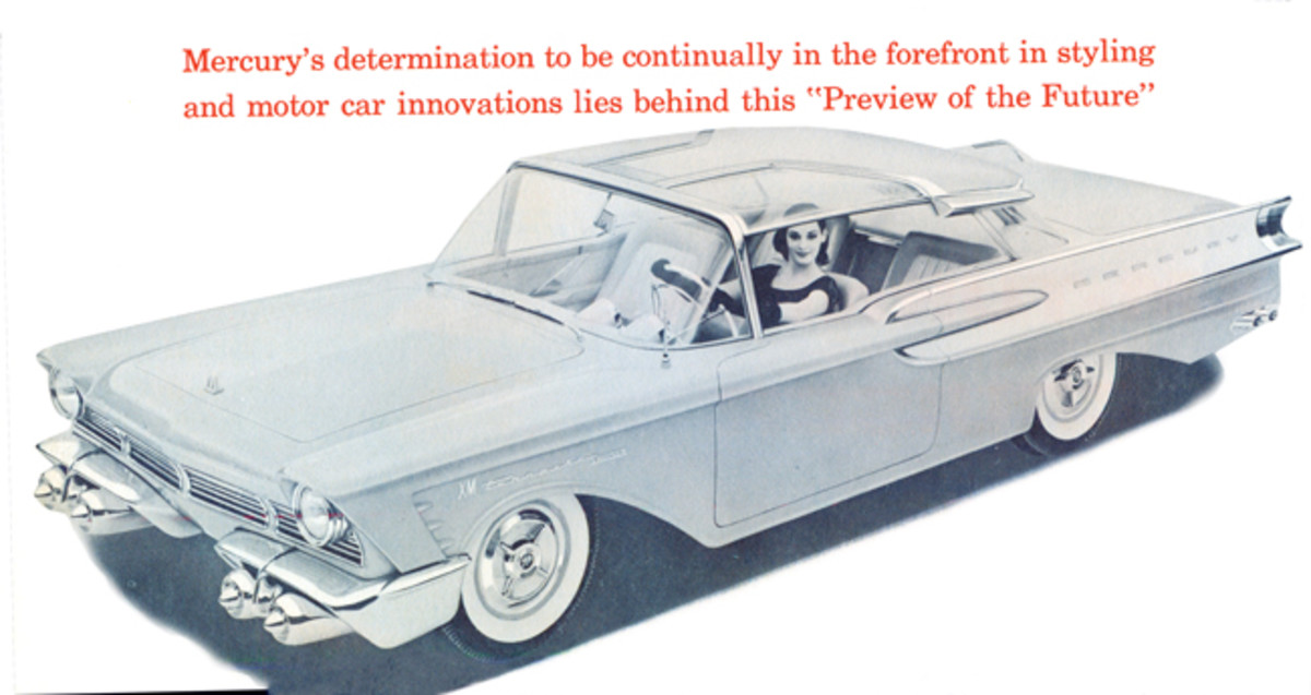 The roof was emphasized in Mercury's brochure.