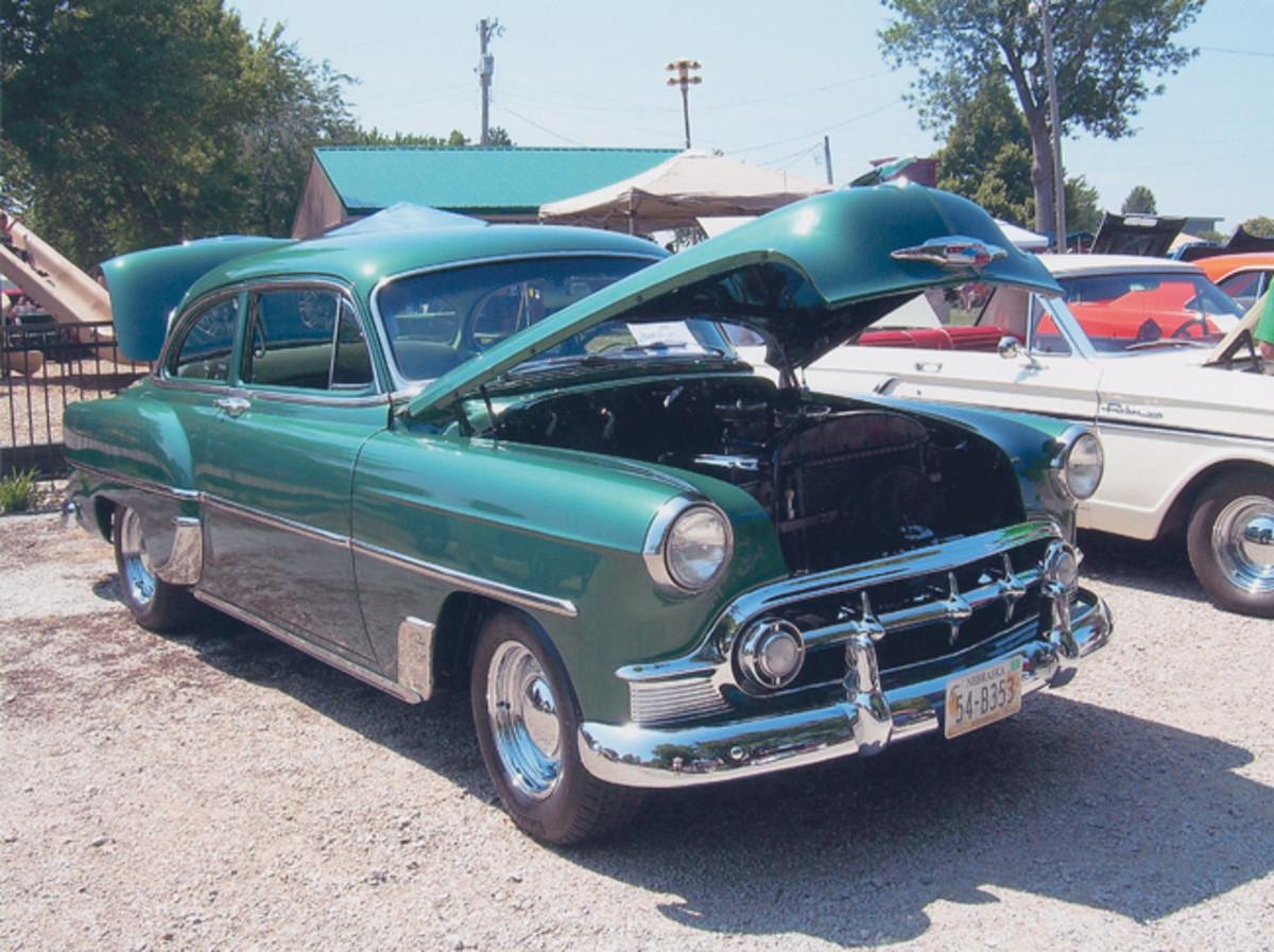 Beneath the hood resides the original 235-cid six-cylinder.