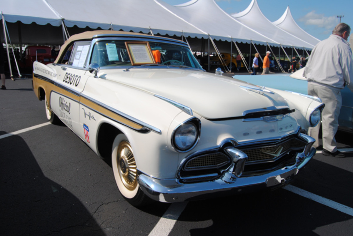 Detailed and presented with plenty of flair at Auctions America's Fall Auburn sale, this 1956 DeSoto Fireflite Pacesetter Convertibles was a great buy for a bid of $60,000.