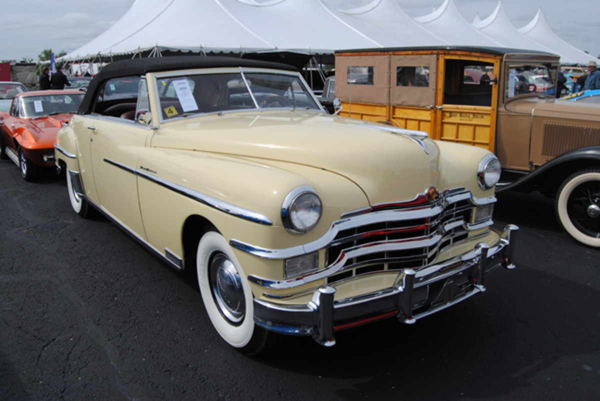 Looking better than new this 1949 Chrysler New Yorker convertible with the Highlander package was called sold at $35,000 during Auctions America's Fall Auburn sale.