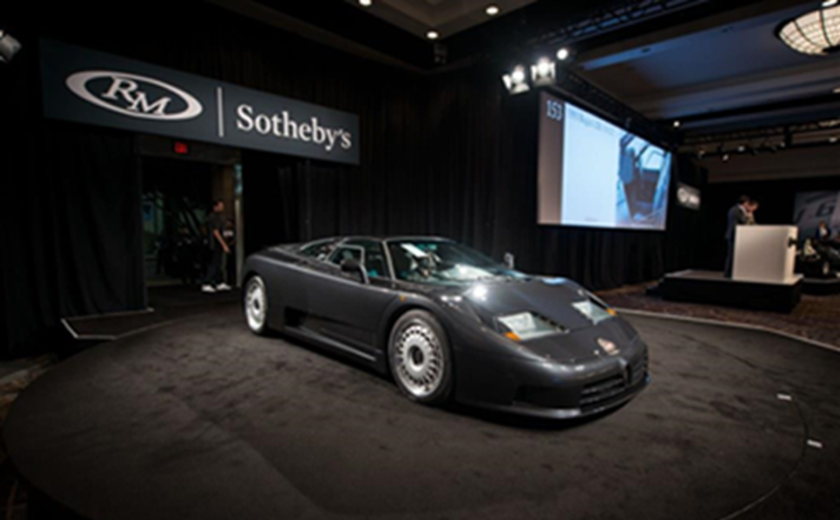 The single-owner1993 Bugatti EB110 GT sold for $967,500 on night two of RM Sotheby's 2018 Arizona sale