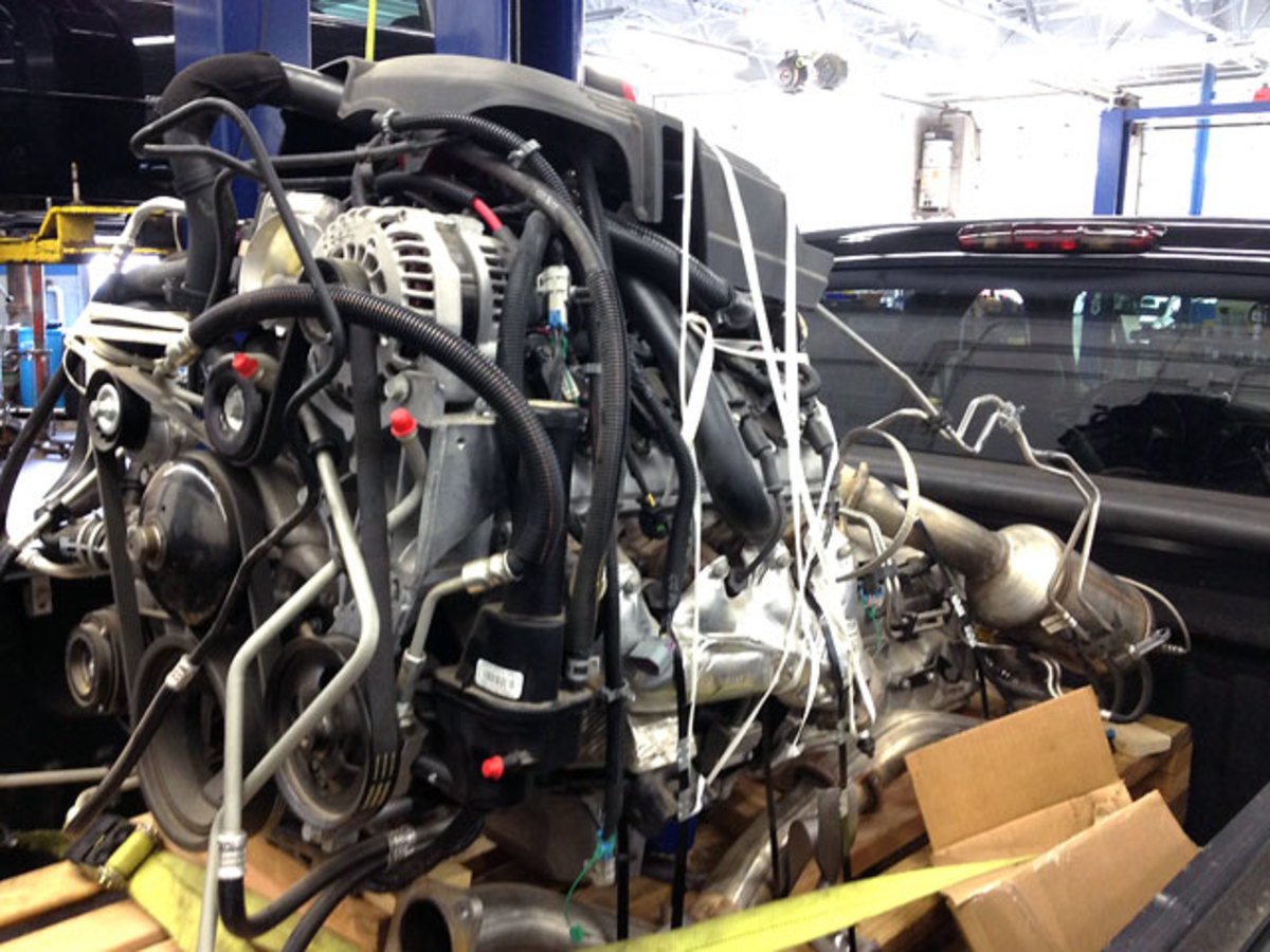 The motor came from a salvage yard in Michigan.