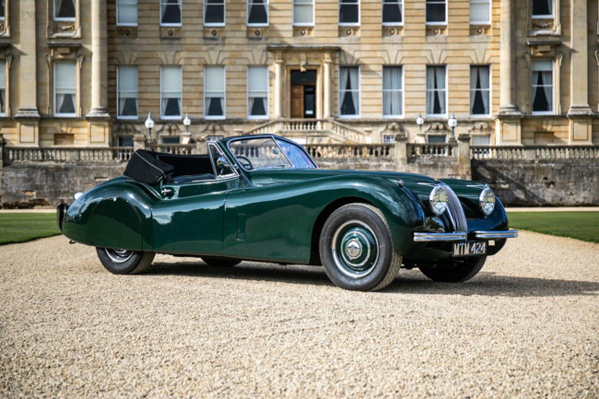 1954 Jaguar XK120 DHC. Photo - Silvertone Auctions