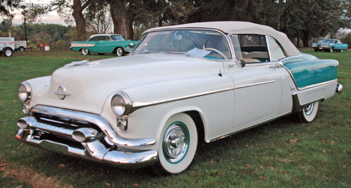 Chuck Larson's one-of-458 1953 Oldsmobile Fiesta has been in his family for decades, but the restoration was started just 10 years ago.