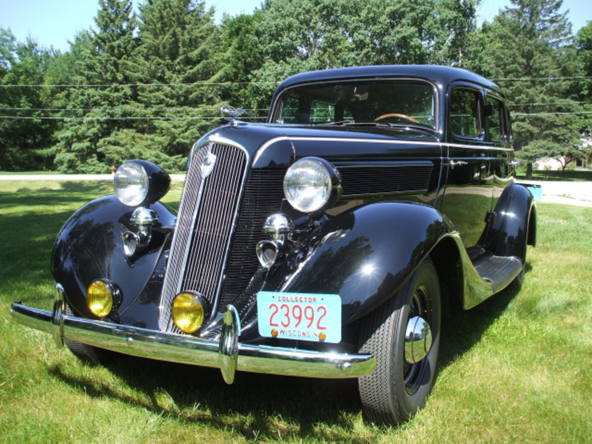 """Jim Gilson's 1935 Studebaker Dictator 2A will be featured under the """"Four for All in '14"""" theme tent at the 2014 Iola Old Car Show."""