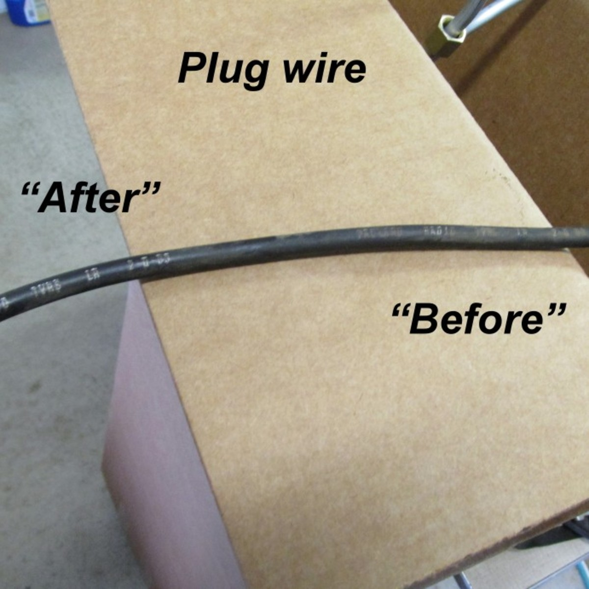 Leidich carefully cleaned the plug wires without damaging the print on each wire.