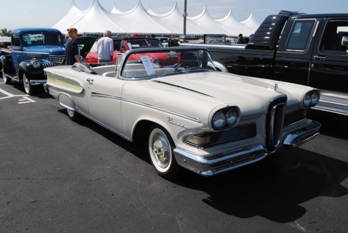 Auctions America's Fall Auburn sale had just one Edsel to offer, an interesting 1958 Pacer convertible called sold at $32,500.