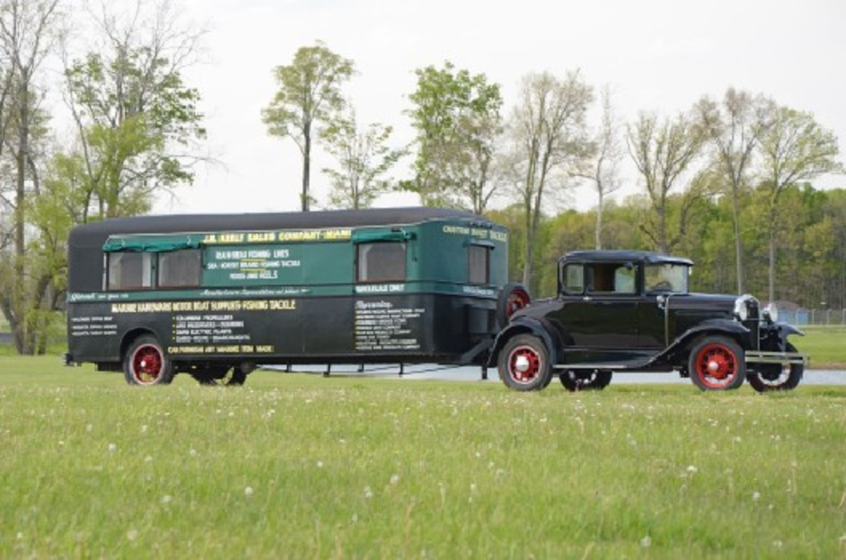 1931 Ford Model A and vintage travel trailer