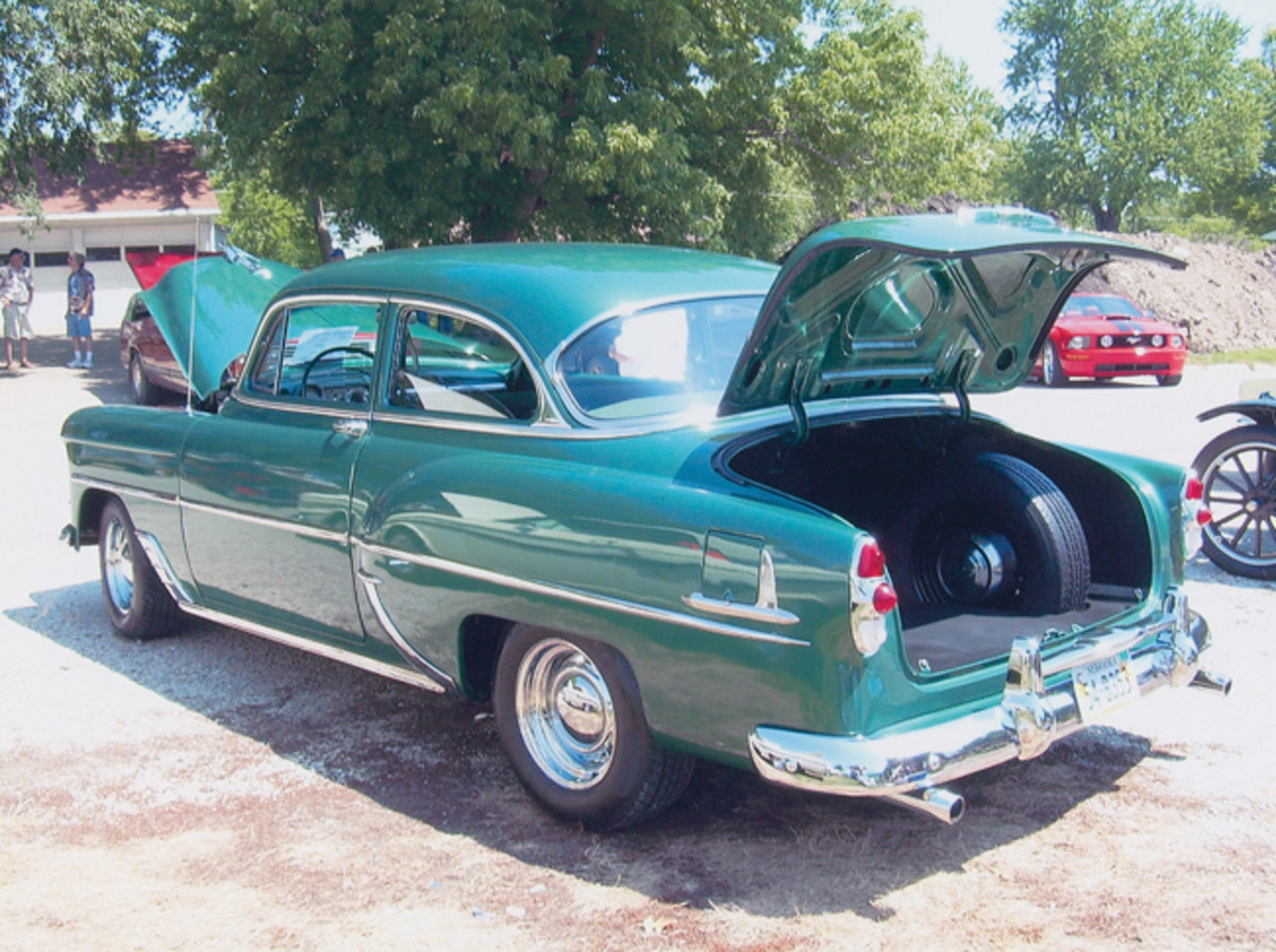 In '53 there was enough trunk space even with the spare.