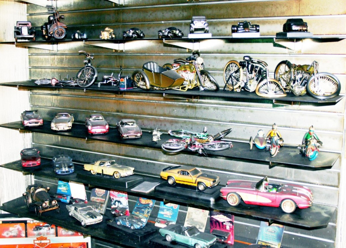 About 1,000 antique toy cars were damaged or destroyed in the fire.