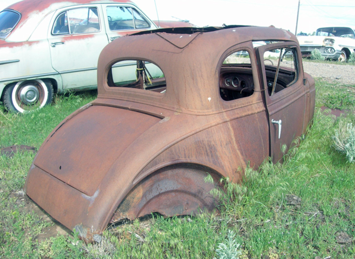 Finding intact five- (and three-window) coupe bodies is every rodder's dream. Sitting on the ground is doing this General Motors coupe shell no favors. It needs a new home fast.