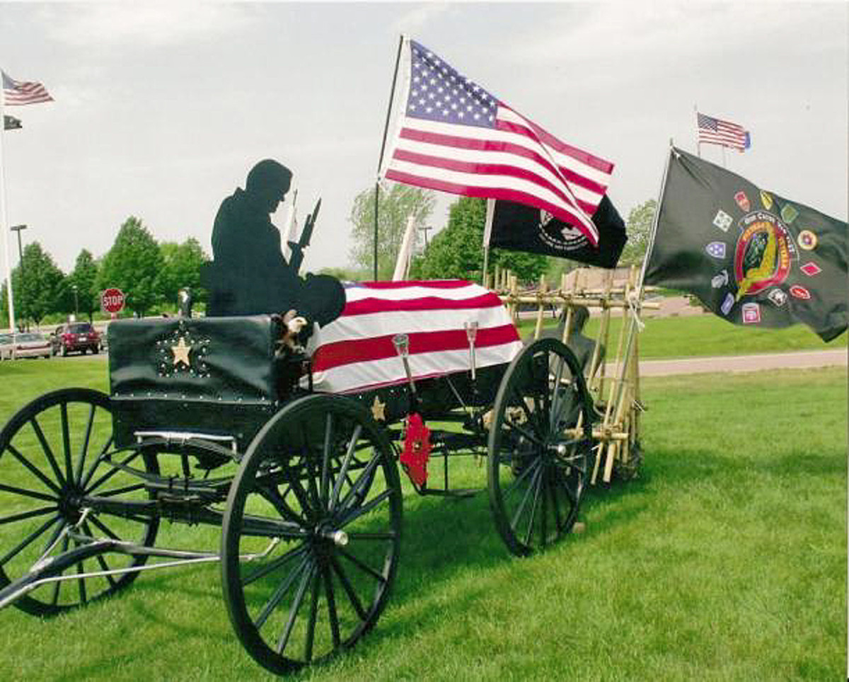 This Vietnam Memorial Caisson will be on display during the Iola Vintage Military Show.