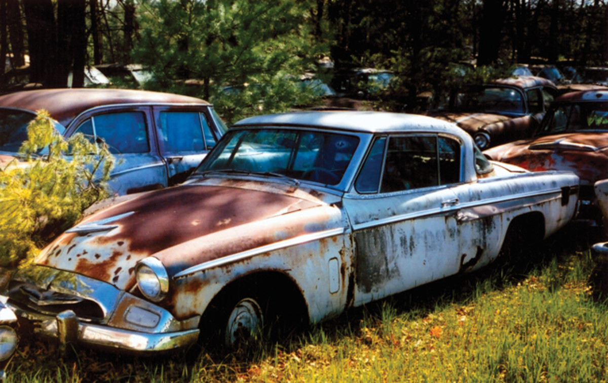 Considering it was in Wisconsin, we would have expected this 1955 Studebaker two-door hardtop to be rustier. It's probably a steel girder now.