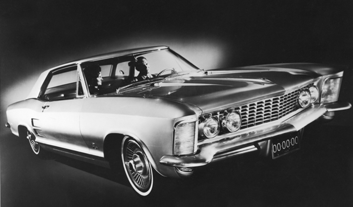 The '63 Buick Riviera had dramatic and exclusive styling. Drivers are valued about $15,000 today.