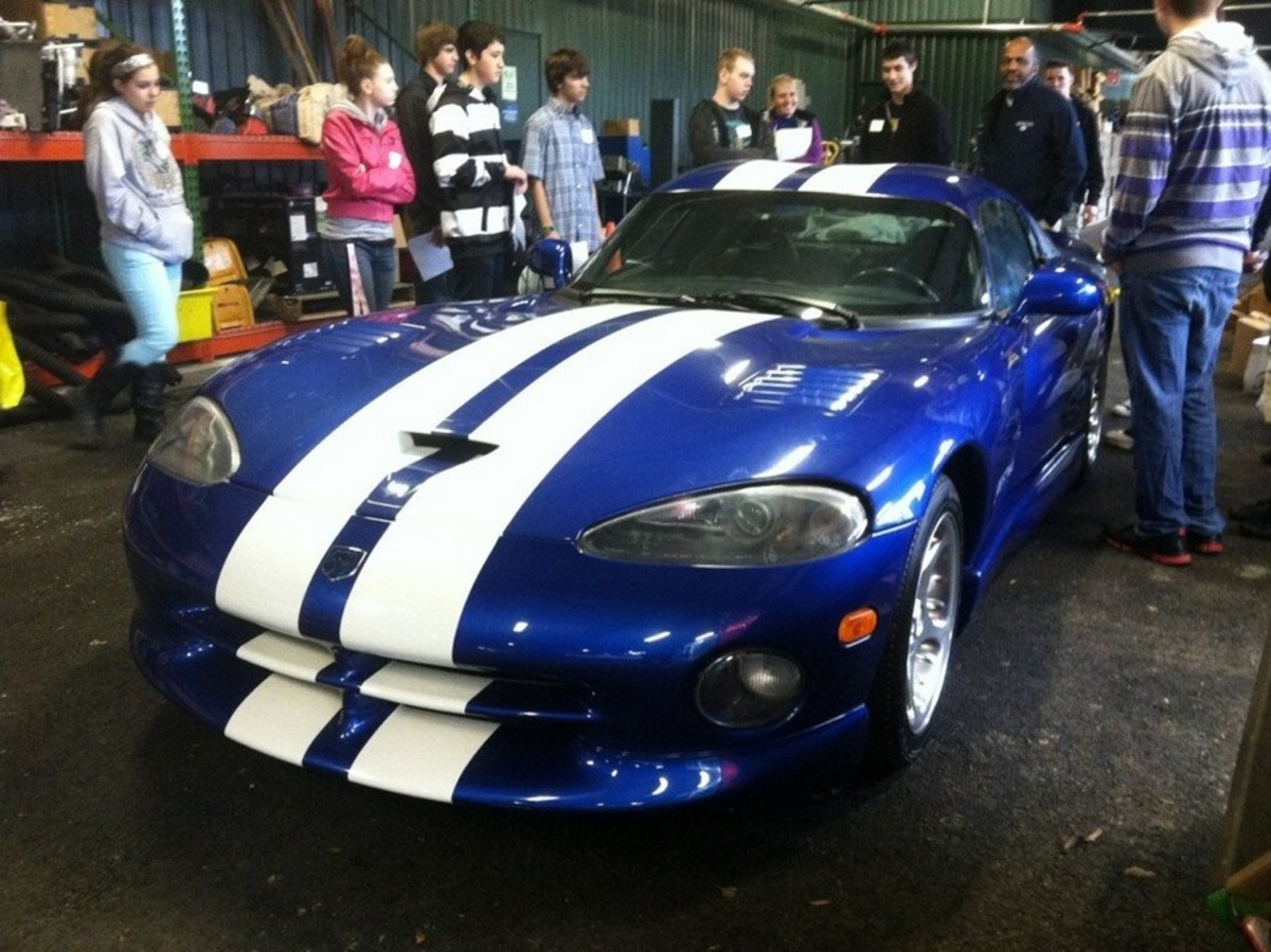 This unique early Viper coupe at South Puget Sound Community College in Olympia, Wash., was ordered to be destroyed by Fiat-Chrysler.