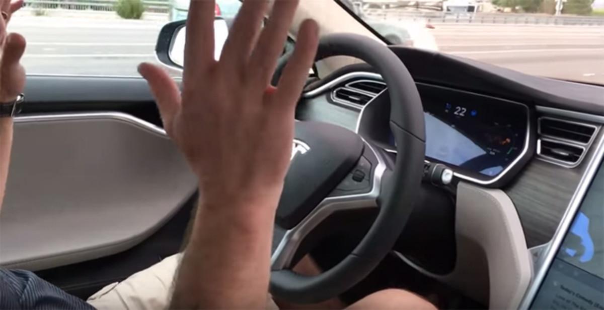 """""""Laissez faire"""" driving with Autopilot engaged"""