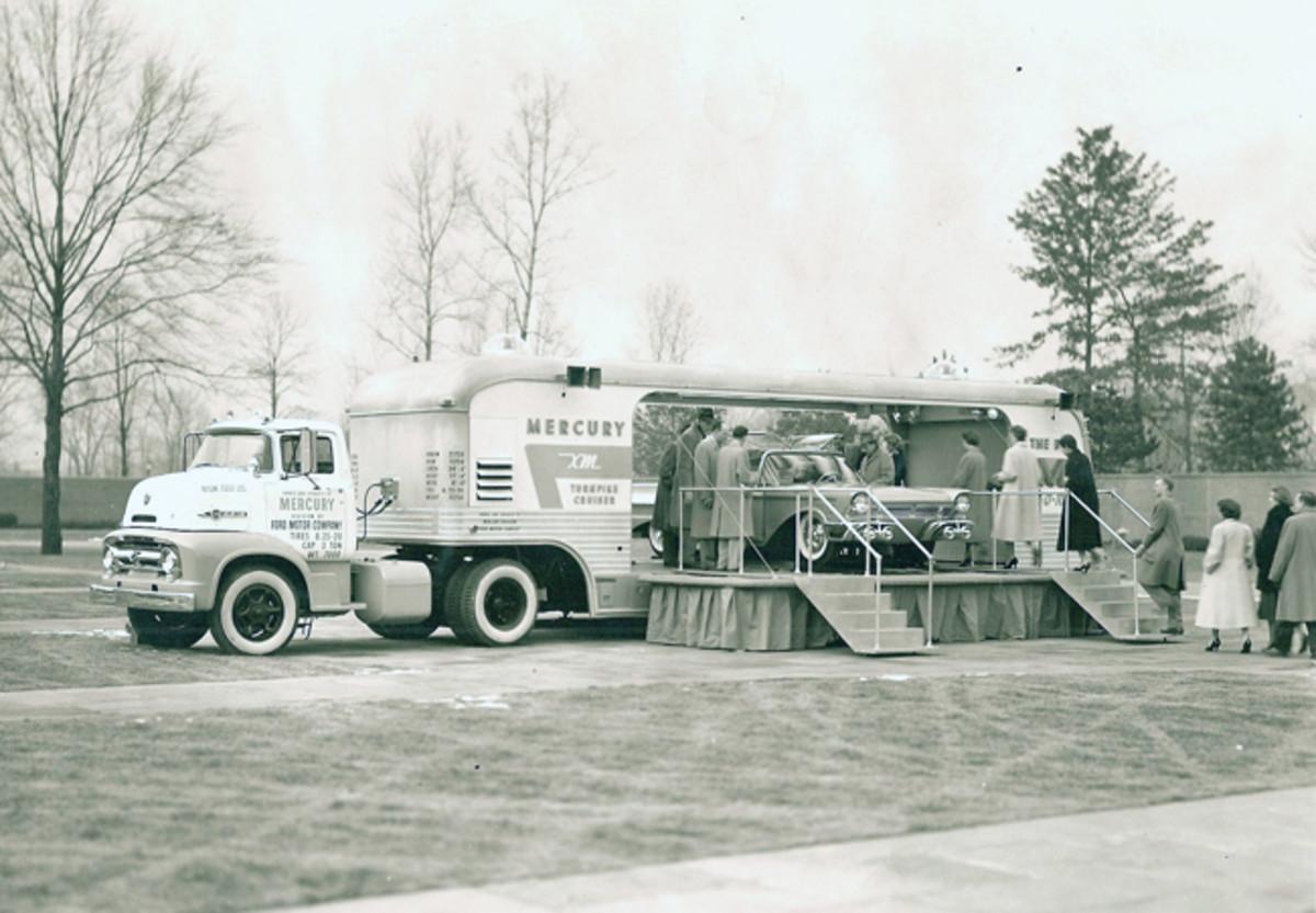 "The XM -Turnpike Cruiser made the show circuit in the ""Big M Van-O-Rama"" in 1956."