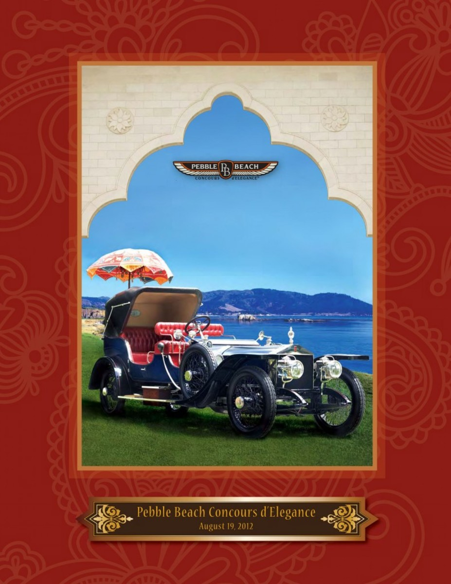 The Entry Application for the 62nd Pebble Beach Concours d'Elegance shows a 1911 Rolls-Royce 40/50 HP Silver Ghost once owned by the Maharaja of Mysore. The Pebble Beach Concours d'Elegance will take place Aug. 19, 2012, on the famed 18th Fairway of Pebble Beach Golf Links.
