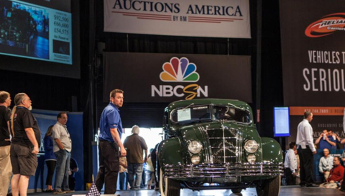 The sale-topping 1934 Chrysler Custom Imperial Airflow (photo credit: Mark Byler © 2014 courtesy Auctions America)