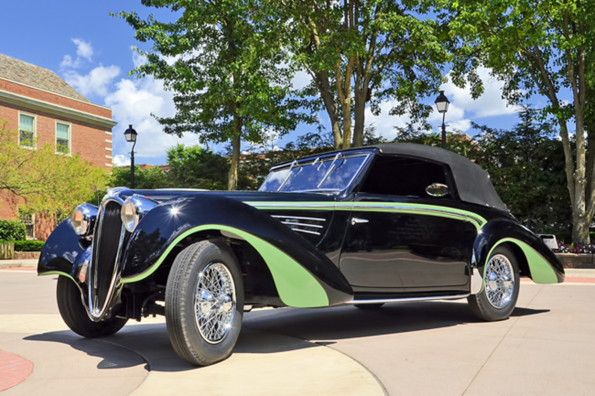 This year's The Experience Concours, held annually on the campus of the Gilmore Car Museum near Kalamazoo, MI will showcase a Full Classics® automobiles—marking the epitome of auto design— such as this stunning French-built 1939 Delahaye. - Photo - Classic Car Club of America Museum