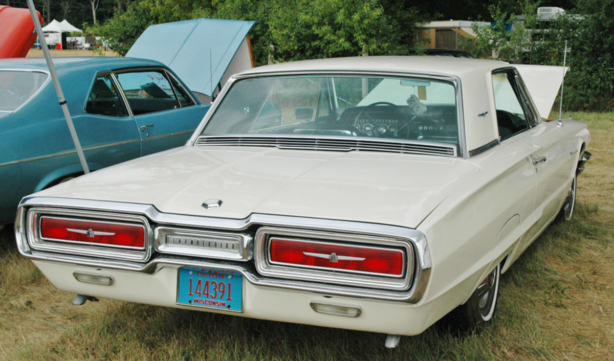 """""""Flair 'Birds"""" are still bargains, a fact proven by this 390-cid-equipped 1964 Thunderbird coupe priced at $9,900."""