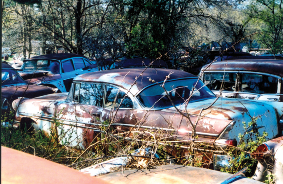 It would be a shame if this complete 1957 Pontiac two-door hardtop had been crushed. Alas, that is what we suspect happened to it and the others.